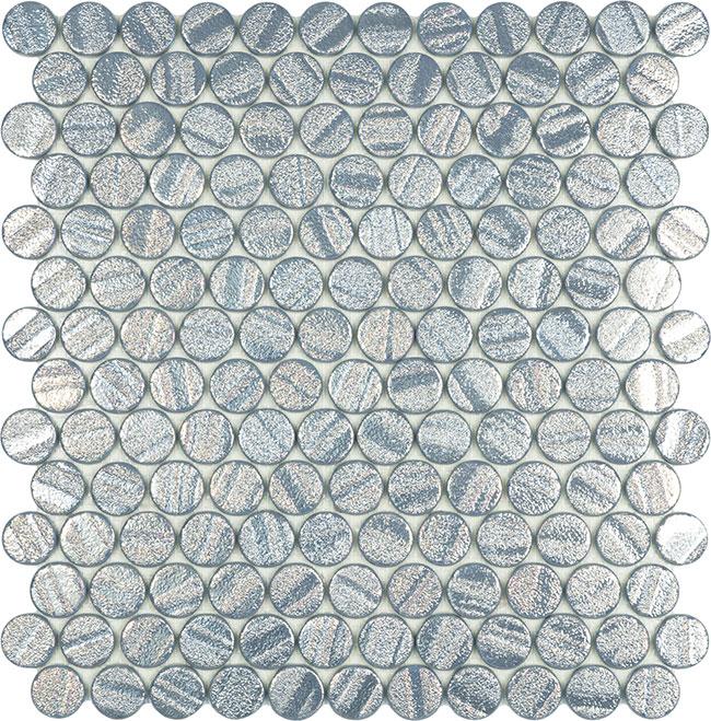 Aqua Silver Circle