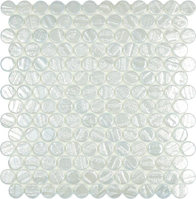 Aqua White Circle