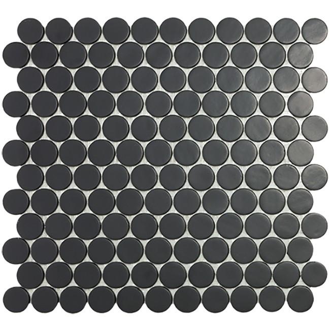 6108 Matt Black Circle