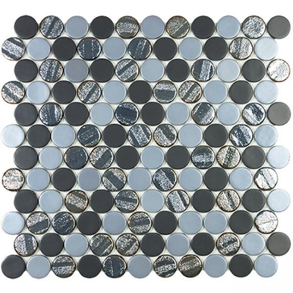 Aqua Black Blend Circle
