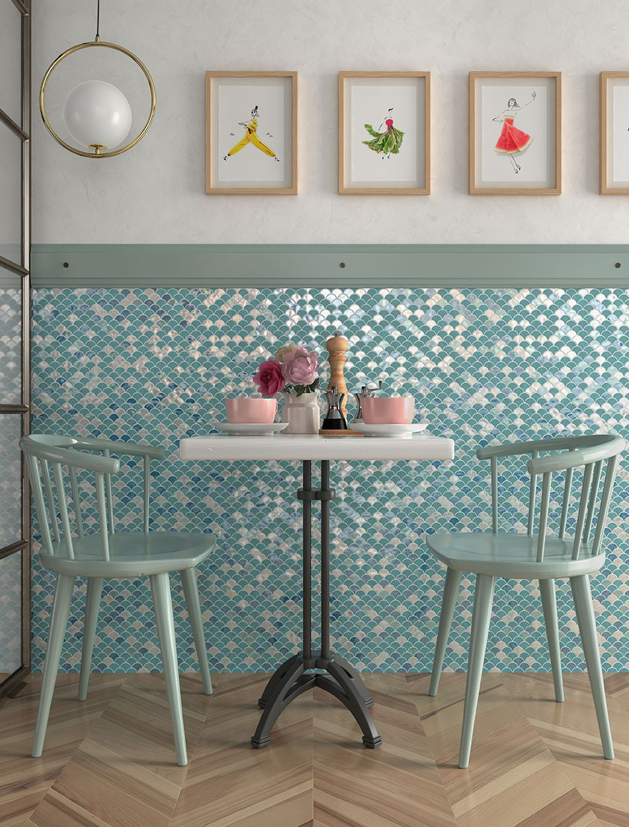 Det Blue Mix Hq - Mosaico Decorativo: Tendencia Para Baños Y Cocinas 2021 - Decoración